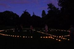 Outdoor Candle Labyrinth