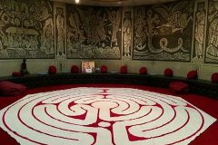 Canvas Labyrinth at St. Benet's Church